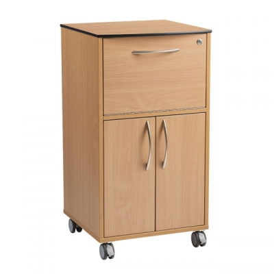Beaver Bedside Cabinet With Upper And Lower Cupboards Ca3790