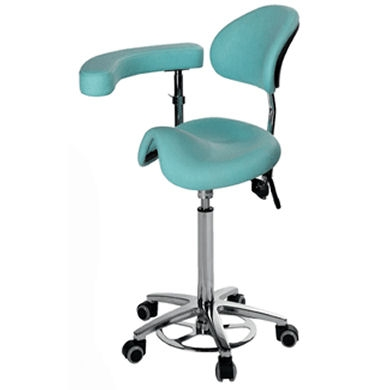 Hansen Surgeons Foot Operated Saddle Chair With Back Rest