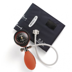 Welch Allyn DuraShock DS55 Silver Series Hand Aneroid Sphygmomanometer, Red (DS-5541-149)