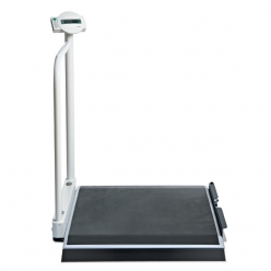 Seca 677 Electronic Wheelchair Scales with Handrail & Transport Castors