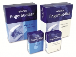 Reliance Fingerbuddies White Standard (Box of 100) (RL691)