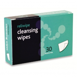 Reliance Reliwipe Moist Cleansing Wipes Sterile, (Box of 30) (for BS8599-1 Kit) (RL945)