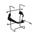 Cardiac Science Wall Mount Wire Rack For AED (170-2145-001)