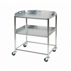 Sunflower Surgical Trolley 66cm, 2 Stainless Steel Trays (Sun-ST6S2)