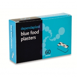 Reliance Dependaplast Blue washproof plasters assorted (Box of 60) (for BS8599-1 Kit) (RL627)