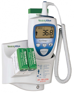 Welch Allyn SureTemp Plus 692 Thermometer with 4ft Oral Probe, Wall Mount, Alarm & Probe Well (01692-400)