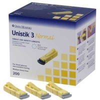 Owen Mumford Unistik 3 Normal (Box of 100) (AT1002)