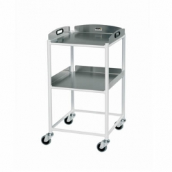 Sunflower DT4 Dressing Trolley 46cm, 2 Stainless Steel Trays (Sun-DT4S2)
