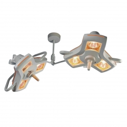 Luxo AIM 100 Minor Surgery Lights & Double Ceiling Mount (A102DC-02)