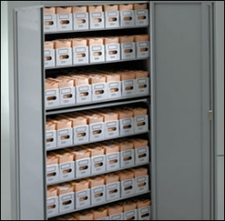 Amerson 8 Shelf Archive Cabinet With Standard Doors - 64 Trays of Lloyd George Notes (3ARCMED864)