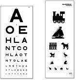 AW Eye Test Chart, Double Sided 6 Metre (AW340/6)
