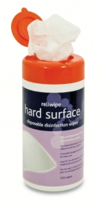 Reliwipe Hard Surface Disposable Disinfectant Wipes Tub (125) (RL751)