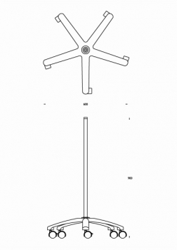 Luxo Trolley Stand for Magnifiers, White (BRK025205)