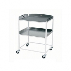 Sunflower DT6 Dressing Trolley 66cm, 2 Stainless Steel Trays (Sun-DT6S2)