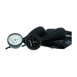 Riester R1 Shock-Proof Aneroid Sphygmomanometer with Adult Cuff (Black) (1250-107)