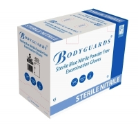 Bodyguards Gloves Sterile Blue Nitrile P/F Medium (Box of 50 Prs) (GS6906)