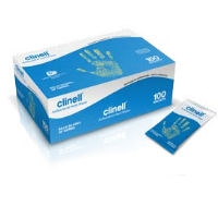 Clinell Antibacterial Hand Wipes (Pack of 100) (CAHW100)