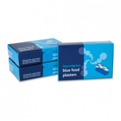Dependaplast Blue Food Area Plasters Sterile 6cm x 2cm (Box of 100) (RL449)