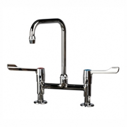 Sunflower Traditional Swan Neck Twin Lever Mixer Tap (Sun-TAP5)