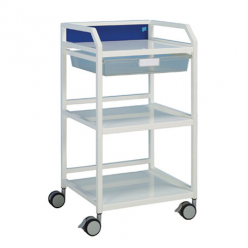 Doherty Howarth 4 Trolley with 1 Tray, 3 Shelves (Wide) (1525/04/Colour)