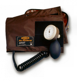 Accoson Limpet Aneroid Sphygmomanometer, Coiled Tube & Wide Range Velcro Cuff (0309)