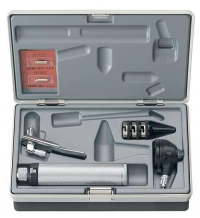 Heine K100 ENT Otoscope Set 3.5V, Rechargeable Handle, Desk Charger, Tongue Depressor Holder, Specula (B-241.20.420)